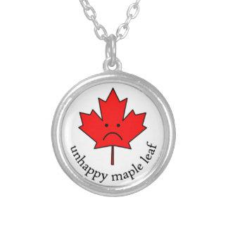 Unhappy Maple Leaf pendant necklace