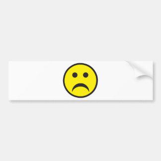 Unhappy Smiley Sadness Face Bumper Stickers