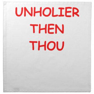 unholier than thou cloth napkin