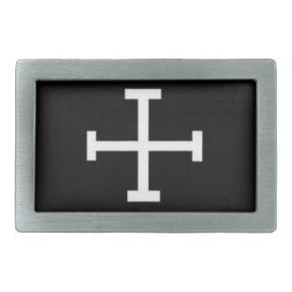 unholy cross rectangular belt buckle