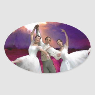 unhurried time_PAINTING.jpg Oval Sticker