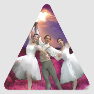 unhurried time_PAINTING.jpg Triangle Sticker