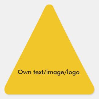 Uni amarillo pegatina triangular