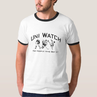 Uni campanero negro del reloj remera