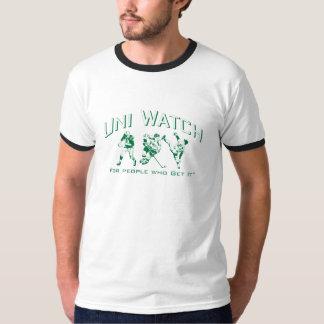 Uni campanero verde del reloj playera