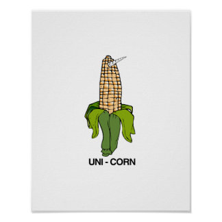 UNI CORN EAR OF CORN POSTER