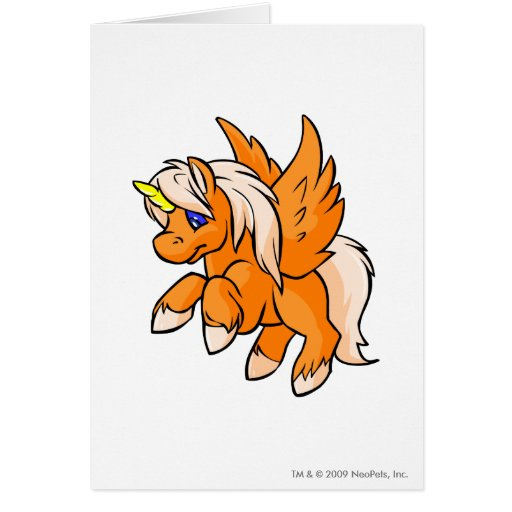 Uni Orange Greeting Card
