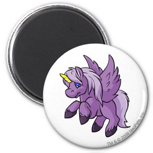 Uni púrpura imán para frigorifico
