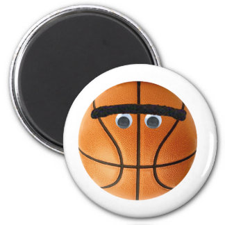 Unibrow Basketball 2 Inch Round Magnet