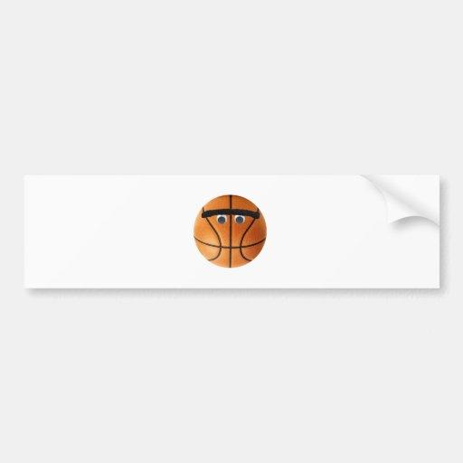 Unibrow Basketball Bumper Stickers