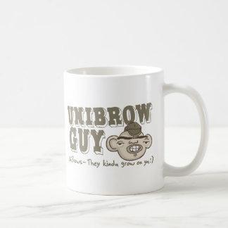 Unibrow Guy with Hat Coffee Mug