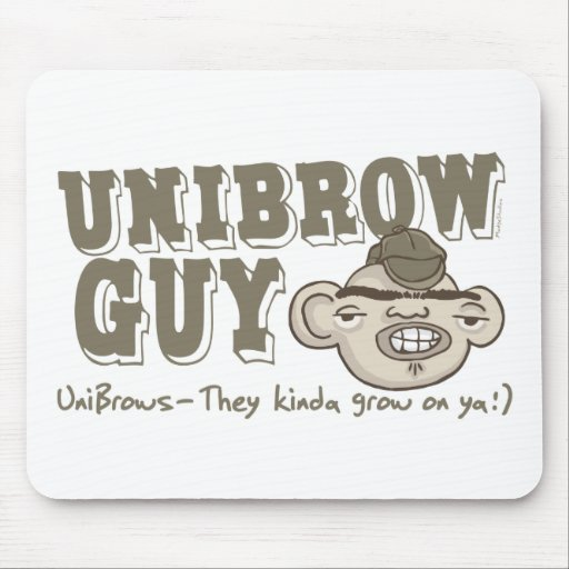 Unibrow Guy with Hat Mouse Pad