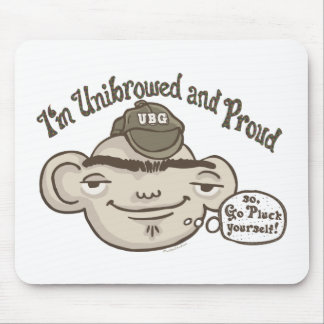 Unibrowed and Proud Mouse Pad