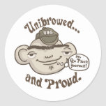 Unibrowed and Proud Sticker
