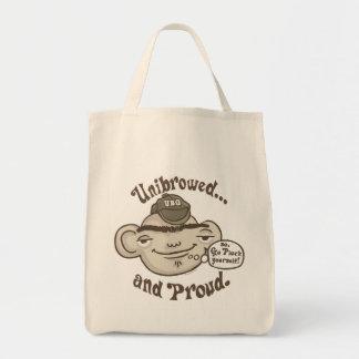 Unibrowed y orgulloso bolsa de mano