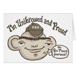 Unibrowed y orgulloso felicitacion
