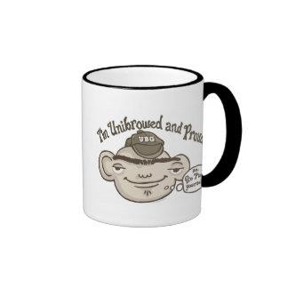 Unibrowed y orgulloso taza