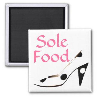 Única comida para las almas que aman los zapatos imán cuadrado