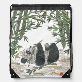 Única mochila del diseño del oso de panda