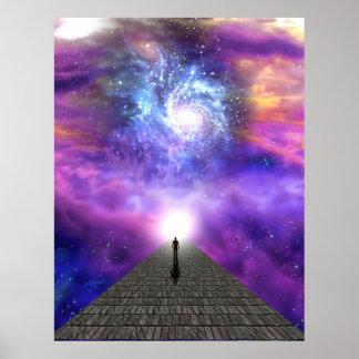 Unicidad con el universo, gran misterio de la vida póster