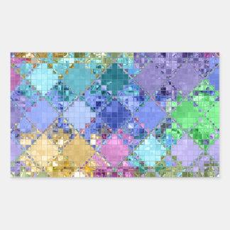 Único brillante y adaptable coloridos rectangular pegatina