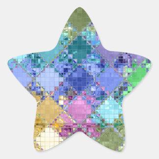 Único brillante y adaptable coloridos calcomanía forma de estrella personalizada