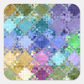 Único brillante y adaptable coloridos calcomanías cuadradas personalizadas