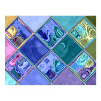 Único brillante y adaptable coloridos postales