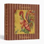 ¡Único! Carpeta francesa de Avery del gallo del pa