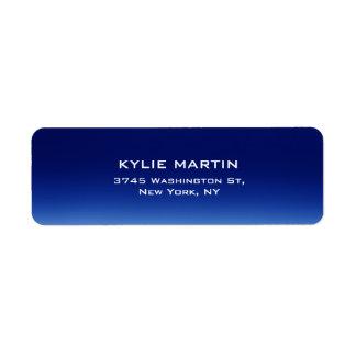 Único contemporáneo elegante llano azul de la etiquetas de remite