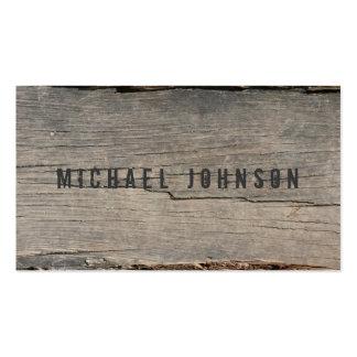 Único de madera rústico moderno tarjetas de visita