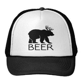 Único divertido del oso de la cerveza gorro de camionero