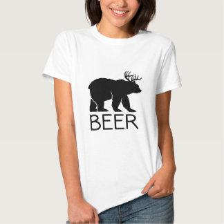 Único divertido del oso de la cerveza poleras