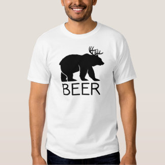 Único divertido del oso de la cerveza remera