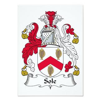 Único escudo de la familia invitación 12,7 x 17,8 cm