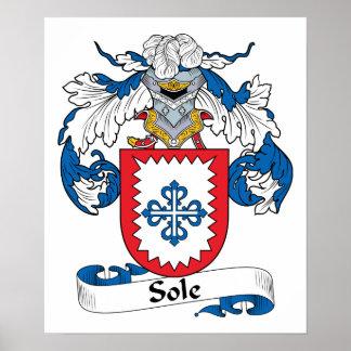 Único escudo de la familia póster