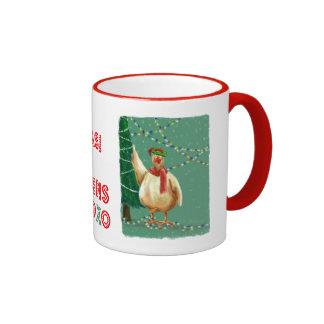 Único: ¡Felices Navidad - de los pollos! Taza De Café