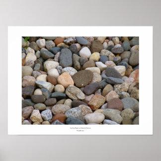 Único hermoso de las piedras de las rocas toda la póster