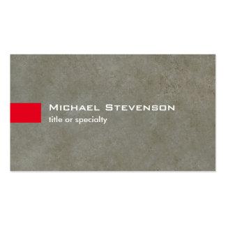 Único moderno de la piedra gris elegante de la tarjetas de visita
