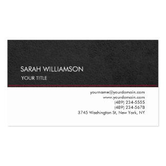 Único profesional llano elegante del blanco gris tarjetas de visita