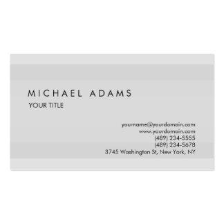 Único profesional simple gris llano elegante tarjetas de visita