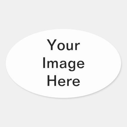 Único, único, impresión calcomania de óval personalizadas