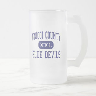 Unicoi County - Blue Devils - High - Erwin 16 Oz Frosted Glass Beer Mug