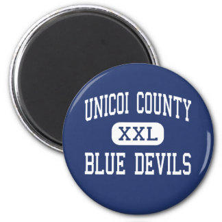 Unicoi County - Blue Devils - High - Erwin 2 Inch Round Magnet