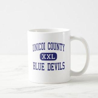 Unicoi County - Blue Devils - High - Erwin Classic White Coffee Mug