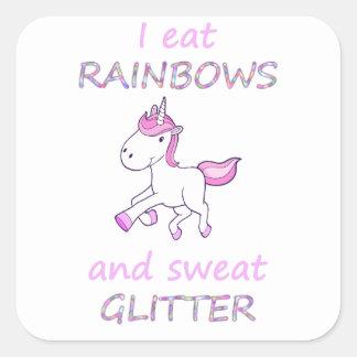 unicorn20 square sticker