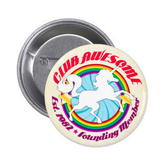 Unicorn 1982 - Club Awesome Pinback Buttons