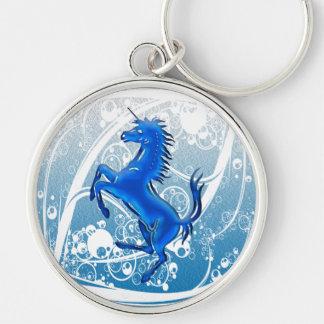 Unicorn 1 blue keychain