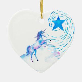 Unicorn 1 ceramic ornament