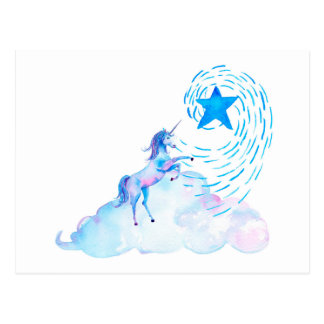 Unicorn 1 postcard